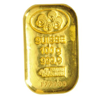100g Pamp Suisse Gold Bar
