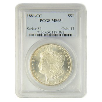 1881-CC Morgan Dollar PCGS 65