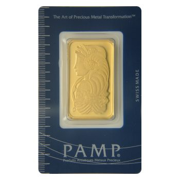1 oz Gold PAMP Suisse Bullion Bar