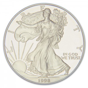 Silver Eagle Stock Photo