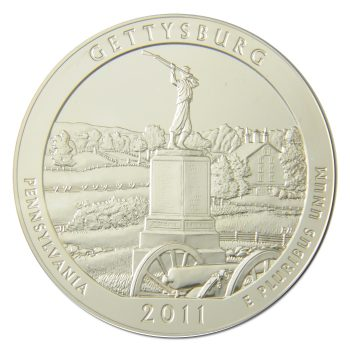 2011 Gettysburg ATB 5oz Silver Coin