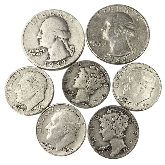 90 Silver Coins 1 Face Value Our