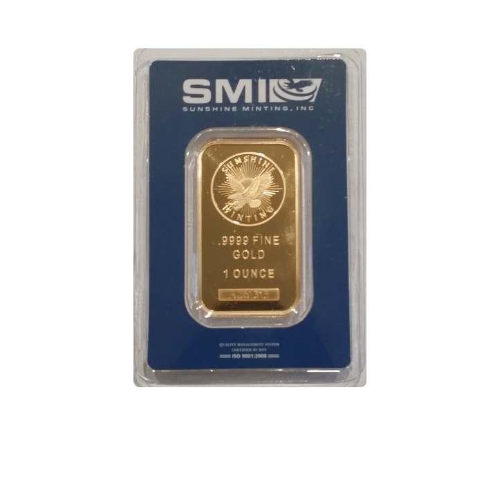 1 Oz Sunshine Mint Gold Bar Jefferson Coin