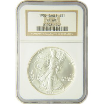 1986 Silver Eagle NGC MS-69