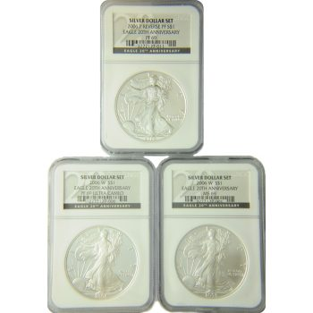 2006 Silver Eagle 20th Anniversary Set NGC 69
