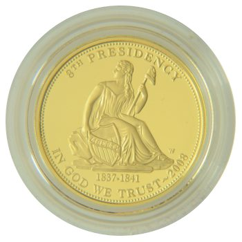 Van Buren Liberty Proof First Spouse 1/2 oz Gold