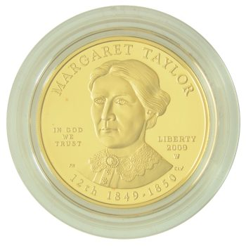 Margaret Taylor Proof First Spouse 1/2 oz Gold