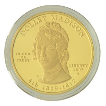 Dolly Madison Proof First Spouse 1/2 oz Gold
