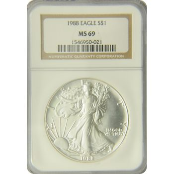 1988 Silver Eagle NGC MS-69