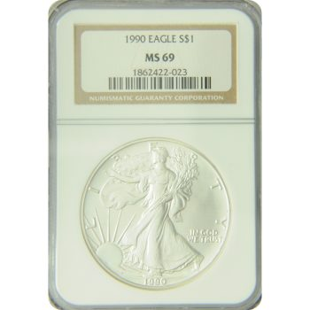 1990 Silver Eagle NGC MS-69