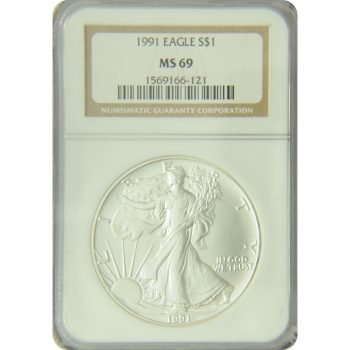 1991 Silver Eagle NGC MS-69