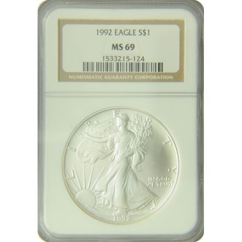 1992 Silver Eagle NGC MS-69