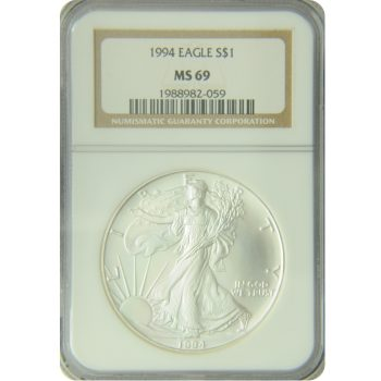 1994 Silver Eagle NGC MS-69