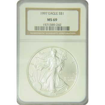 1997 Silver Eagle NGC MS-69