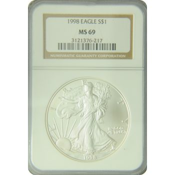 1998 Silver Eagle NGC MS-69