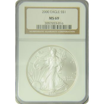 2000 Silver Eagle NGC MS-69