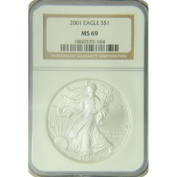 2001 Silver Eagle NGC MS-69