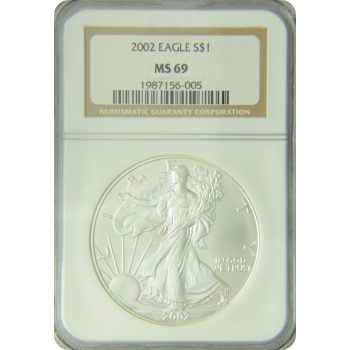 2002 Silver Eagle NGC MS-69
