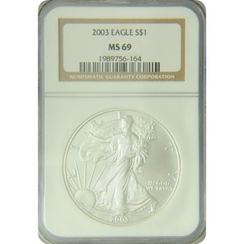 2003 Silver Eagle NGC MS-69