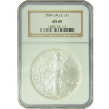 2004 Silver Eagle NGC MS-69