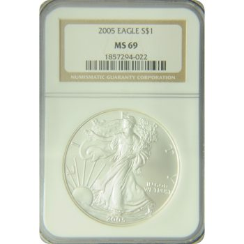 2005 Silver Eagle NGC MS-69