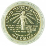 U.S. Silver Commemorative Dollar Reverse