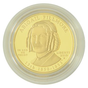 Abigail Fillmore First Spouse 1/2 oz Gold Proof Obverse