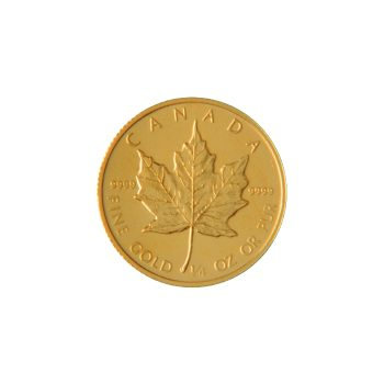 Canadian Maple Leaf 1/4 oz Reverse