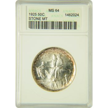 1925 Stone Mountain $0.50 Commemorative ANACS MS-64