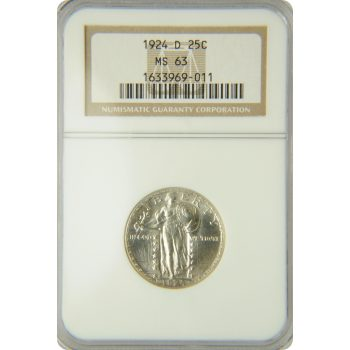 1924-D Standing Liberty Quarter NGC MS-63