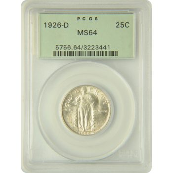 1926-D Standing Liberty Quarter PCGS MS-64