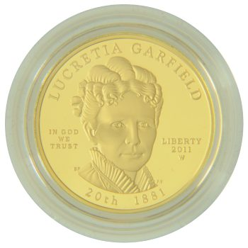Lucretia Garfield Proof First Spouse 1/2 oz Gold Obverse