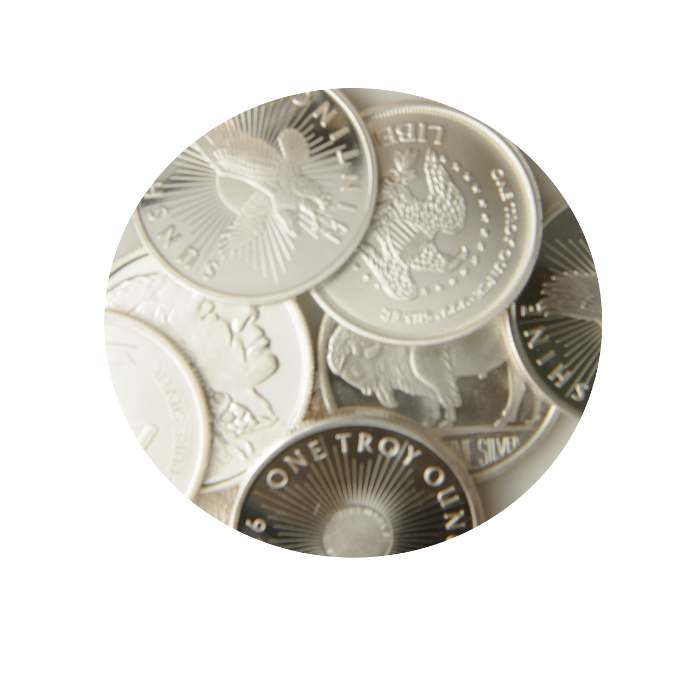 1 oz Bullion Silver Rounds and Bars