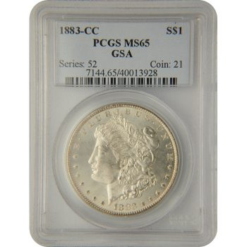 1883-CC Morgan Dollar PCGS MS-65 GSA