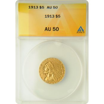 1913 $5 Gold Indian ANACS