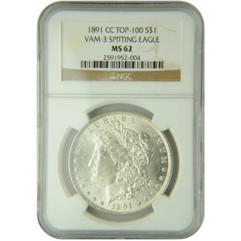 1891-CC VAM-3 Spitting Eagle NGC MS-62