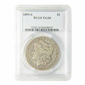 1895-S Morgan Silver Dollar PCGS VG-10