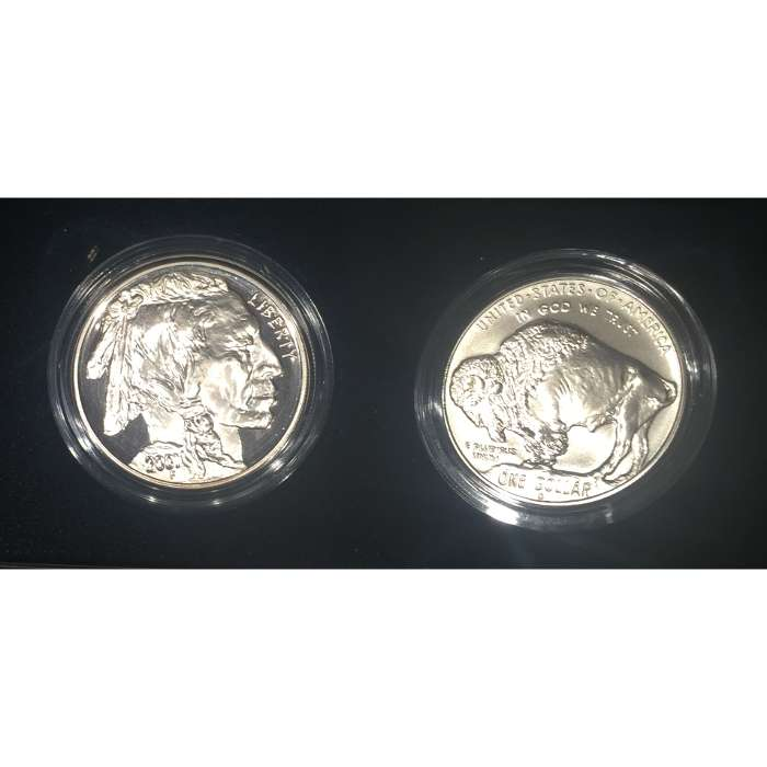 2 pc Silver Buffalo Set