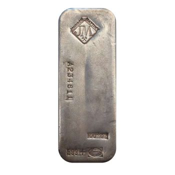 100 oz .999 Silver JM Bar