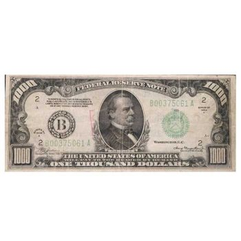 $1000 1934 A Federal Reserve Note