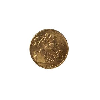 1914 gold sovereign coin