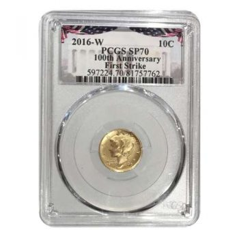 2016-W Gold Mercury Dime 1st Strike PCGS SP70