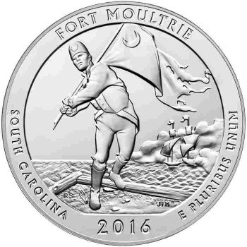 5oz silver bullion fort moultrie