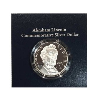 2009 Proof Lincoln Commemorative Silver Dollar