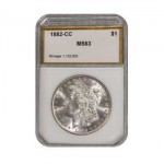 1882-CC Morgan Silver Dollar PCI MS63