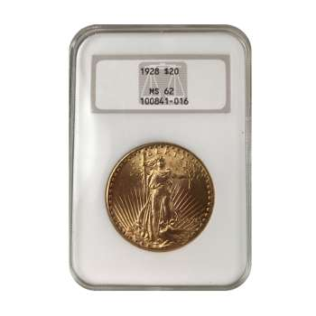 1928 $20 Gold St. Gaudens NGC MS62