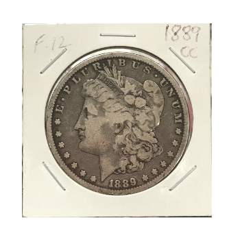 1889-CC Morgan Dollar F-12