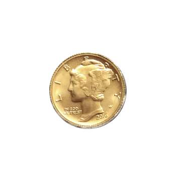 2016 Gold Mercury Dime