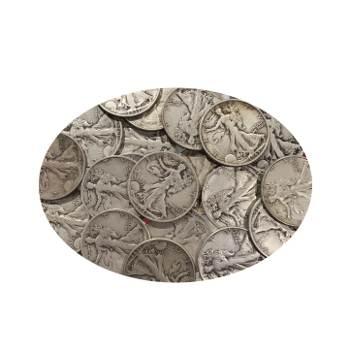90% Silver Walking Liberty Halves $10