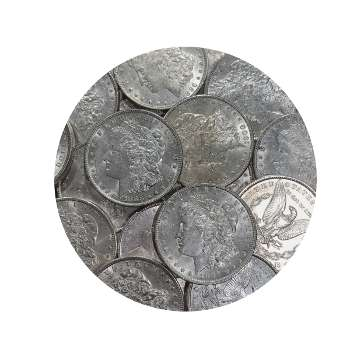AU Morgan Silver Dollars